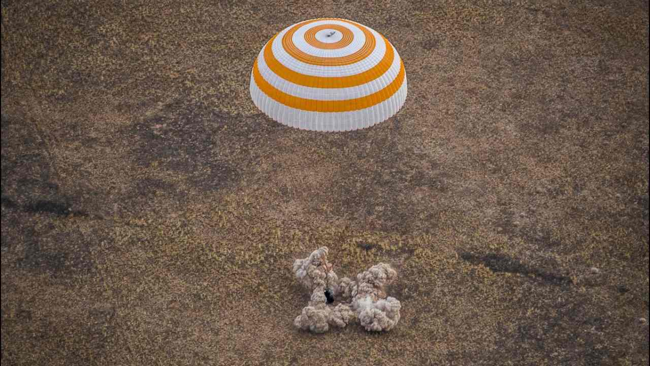 One NASA astronaut, two Russian cosmonauts touch down on Earth after 196-days in space