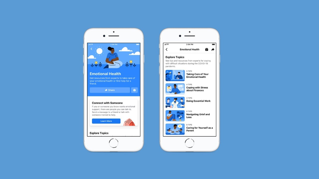 Facebooks new emotional health resource center will allow users to seek help from experts in the times of need